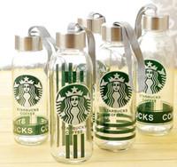 Wholesale Lemon Water - Starbucks Glass Bottle 300ML Lemon Coffee Water Bottle Student Water Glasses Coffee Mug Outdoor Drinking Cup OOA2512