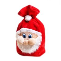 Wholesale Santa Claus Backpack - New Chrismas Gift Bags Backpack Cartoon Santa Gift Wrap Claus Super Soft Sack Christmas Candy Bags drawstring 45*35cm 200PCS LOT B0781