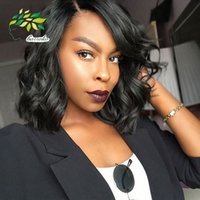 Wholesale Trendy Products - 8 Inch Brazilian Body Wave 50g Human Hair Weaves Top Grade Products Brazilian Virgin Hair 2016 Trendy Bob Short Hairstyle For African Women