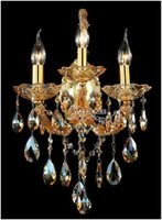 Wholesale K9 Crystal Wall Sconce - High Quality Maria Theresa K9 Crystal Wall Sconces Light Fixture with 3 lights Amber color