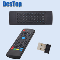 Wholesale android tv mic resale online - 20PCS MXIII Air Mouse Wireless G Remote Control Keyboard TV Box Mic voice mxiii for android box mini PC