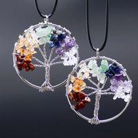 Wholesale Gemstone Pendants China Wholesalers - Natural Gemstones Pendant Necklace Tree of Life Pendant natural gravel life tree necklace wholesale free shipping