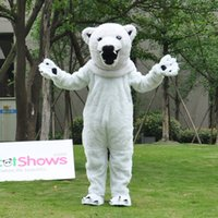 Wholesale Polar Bear Outfits - High Quality Adult Plush Mascot Costume Polar Bear Outfits Fancy Party Dress Suit For Halloween Parties