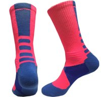 Wholesale Compression Socks Stockings - Men Sportwear Stocking USA Professional Mens Basketball Socks Long Knee Athletic Sport Socks Men Fashion Compression Thermal Winter Socks