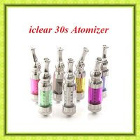 Wholesale Itaste Svd E Cigarette - iclear30s atomizer for e cigarette itaste VTR clearomizer itaste SVD high quality iclear 30S dual coil clearomizer