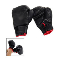 Wholesale Black Gloves For Kids - Wholesale 5X Black Faux Leather Sponge Pad Boxing Gloves Pair For Child kids Gift Play