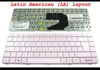 Wholesale Hp Teclado - New Laptop keyboard for HP Pavilion G4 G4-1000 G6 G6-1000, Presario CQ43 CQ57 430 630S Pink Latin American Teclado - V121046CK1
