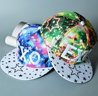 Wholesale Camo Boy Snapback - Bboy EXO Letter Gorras Snapback , Camo Hip Hop Hats , Bone Gorras Masculino , Casquette Unkut Baseball Caps Girl Boy