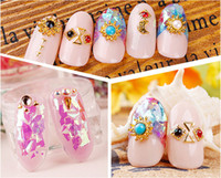 Barato Brilho Coreano Grosso-F401 12 Color Japanese Glitter Powder Nail Art Decals Sticker JapanKorean Candy Style Dacal Sticker Wholesale Hot
