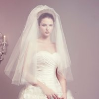 Wholesale Crochet Models - Special offer new han edition star bride wedding veil Double white plug combed yarn can be covered face short model