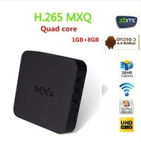 Wholesale Xbmc Tv Box - New Arrival MXQ Android TV Box Quad Core Amlogic S805 Pre-installed XBMC Android 4.4 Kodi 15.2 Android Smart OTT TV Set Top Box
