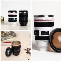 Wholesale mugs camera resale online - Camera Cup Camera Lens Coffee Mugs Stainless Steel Liner Tea Cups Creatives Travel Mug SLR Lens Bottle Novelty Gifts