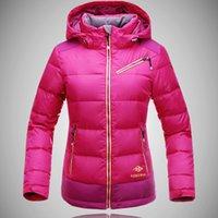 Wholesale Snowboard Jacket Down - Wholesale-2016 New KEKEMAR Brand Women's White 90% Duck Down Hiking skiing Jacket for Women Waterproof Windproof For Mountain snowboard