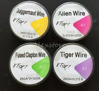 Wholesale e roll - Juggernaut Alien Wire Fused Clapton Wires Tiger Coils 4 Style Roll Resistance Coil 15 Feet 15Ft for E cig Vaporizer with Single Package