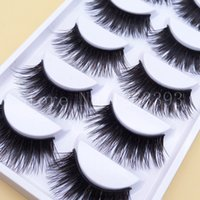 EY90247 black box stage - 2016 Brown Black Exaggerated False Eyelashes Box Pairs Colored Thick Eyelashes Holiday Stage Makeup Smoky Brown Black Lashes