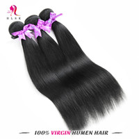 Wholesale Clearance Remy Hair - Clearance Jet-Black Cheap Malaysian Virgin Remy Hair Extensions Natural Wavy Malaysian Straight Hair Black Color #1 Double Weft Free DHL