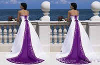 Wholesale Evening Dresses Dhgate - Embroidery Two Colours Luxury Dhgate Prom Dresses Real Picture Evening Gowns Zipper Handmade Celebrity Beach Prom Dress Free Shipping