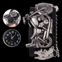 Wholesale Batteries For Motorcycles - Cool Boy Gun & Motorcycle Design Wrist Watch for mens Quartz Watch W150501 Cheap watch high