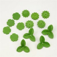 Wholesale Cheap Christmas Garlands - 100pcs Mini Green Christmas Leaves Artificial Flower For Wedding Decoration Garland Rose Leaf Foliage Craft Cheap Fake Flowers