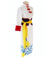 kostenlose chinesische frauen kleider groihandel-2016 japanische Anime Cosplay Gintama Film Kagura Kostüm / Kleid im chinesischen Stil / Mantel für Frauen Freies Verschiffen