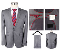 Wholesale Herringbone Wool Suit Jacket - 2016 Famous brand Wool Herringbone Retro gentleman style Men suits tailor suit Blazer suits Slim Fit Groom Tuxedos jacket Vest trousers