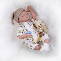 Wholesale Little Real Dolls - 22 inch Soft Silicone Vinyl Little Baby Boy Lifelike Collectible So truly Real Reborn Baby Doll