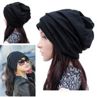 Wholesale-Bluelans Doppel - verwenden Hüte Damen Herren Schal Cool Fashion Slouch Winter stricken Schal Hip-Hop Hüte Ohrkappe