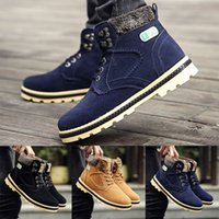 Wholesale Man Riding Boots - HOT sale brand new free shipping Mens Casual Winter Fur Lined Combat Lace Up Working Boots High Top Riding Shoes men martin boots