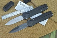 Wholesale Edc Belt - Tanto Powerglide Folding Knife With Belt Clip Power Glide Tanto Blade Stealthy Black Handle 440 Stainless Steel Blade F335L