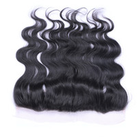 Wholesale Top Closure Frontal - 13x4 Lace Frontal Closures and Brazilian Peruvian Indian Malaysian Hair Bundles Top Lace Frontal Closures Human Hair