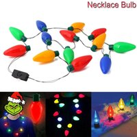 Wholesale Egg Necklace - Christmas Necklace LED Light Up Bulb Party Favors For Adults Or Kids As A New Year Gift