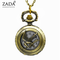 Wholesale Hunger Games Pocket - Wholesale-New Arrive the Hunger Games Pocket Watch Necklace Pendant For Xmas Gift PS406