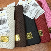 Wholesale Iphone5 Case Water - Superior Brand New Leather Paster Back Cover Python Pattern Hard Shell Cell Phone Cases for Iphone5 Iphone6 6plus