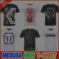 Wholesale German T Shirts - New Skull brand German Men shirt Best quality Italy high-end designer clothing shape perfect Asian Medusa men's T-shirt code size M--3XL