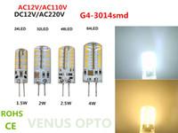Wholesale Day Light 5w - ac110v 220v G4 Day White SMD 3014 24 32 48 64 LED Cabinet Spot Light Lamp Bulb DC 12V 3w 4w 5w 6w
