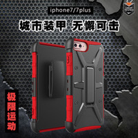 Wholesale Unique Clip Cover - Hybrid 3 in 1 TPU PC Defender Armor Case for iPhone 6 6s 7 Plus with Clip Unique Thermorytic Shockproof Cover Casse