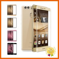 Wholesale mm notes - For Huawei P9 3D Curved Full Coverage Tempered Glass Screen Protector 0.26 mm 9H with Retail packages