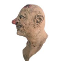 máscaras zombie completas al por mayor-Halloween Scary Zombie Máscara de látex Realista Bloody Head Disfraz Horror Masquerade Party Cosplay Atrezzo Máscaras de cara completa