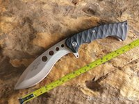 Wholesale knife ball online - Hong Kong Registered Post New TwoSun Survival Bowie G10 Handle Ball Bearings Fast Open Folding Knife TS23 Hole Wave
