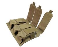 accessoires de gilet tactique achat en gros de-Edc extérieur gadgets triple sac de poche sac en nylon durable tactique militaire molle gilet ou ceinture accessoires suspendus pochette camo / noir / kaki