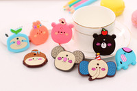 Wholesale Novelty Wooden Animal Magnets - 7pcs Colourful Fridge Magnet Sticker Wooden Cartoon Animals Novelty Cute Fun Kids Toy For Refrigerator