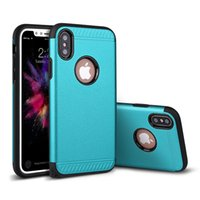 Wholesale Plastic Cushion Covers - Heavy Duty Dual Layer Hard Cover Case Protection Corner Cushion Design with Resilient Shock Absorption for iphone X 8 6 6S 7 Plus