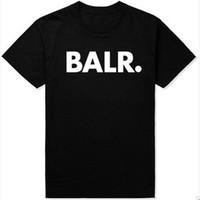 bal tişörtleri toptan satış-Balr Tee Sokak İngilizce Kısa Kollu T-shirt Bireysel Moda erkekler genişletilmiş tişörtlü longline hip hop tişörtlerin kadın ju