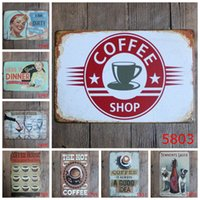 Wholesale Antique Wall Panels - Wholesale- Garage painting iron panel 20*30CM Metal Stickers Tin Signs Pub Club Gallery Poster Vintage Plaque Decor My Garage Wall Posters
