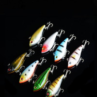 Wholesale bionic minnow fishing lures resale online - Vibration Lure Bait Minnow fishing gear bionic bait lures Lure D Eye Fishing lures Opp bag packing g