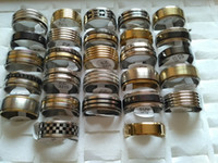 Wholesale Ring Size 22 - Wholesale 50 pcs Big Size 22-23mm mix lot 316L stainless steel mens rings fashion jewelry party ring weeding ring free shipping random style