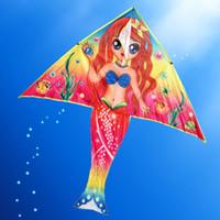nylonrolle großhandel-Wholesale-Outdoor Fun Sports DIY Kite Malerei Kite Zubehör ohne Handle Line Papalote Classic Toy Fliegen Sie einen Drachen fliegen Outdoor-Spielzeug