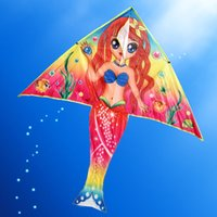 Wholesale Without Handles - Wholesale- Outdoor Fun & Sports DIY Kite Painting Kite Accessories without Handle Line Papalote Classic Toy Fly a Kite Flying Outdoor Toys