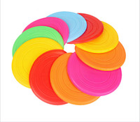 Wholesale Soft Flying Disc Dogs - 2016 Hot Sale Big Promotion pet toys soft silicone Frisbee bites no-hurting the tooth-resistant outdoor dog toy six colors
