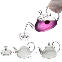 Wholesale Large Chinese Flower Pot - Heat Resistant With High Handle Flower Coffee Glass Tea Pot 600ml Large Blooming Chinese Glass Teapots 21oz